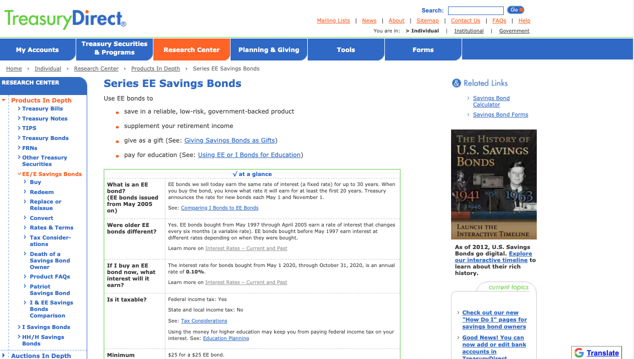 Series EE Bonds